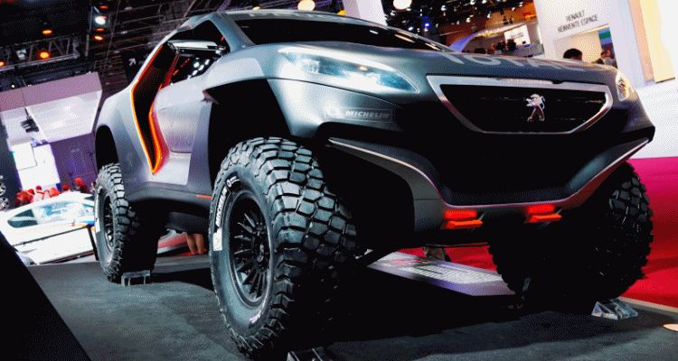 2014 Peugeot Quartz and DKR Prototype Top Paris Concept Reveals gif