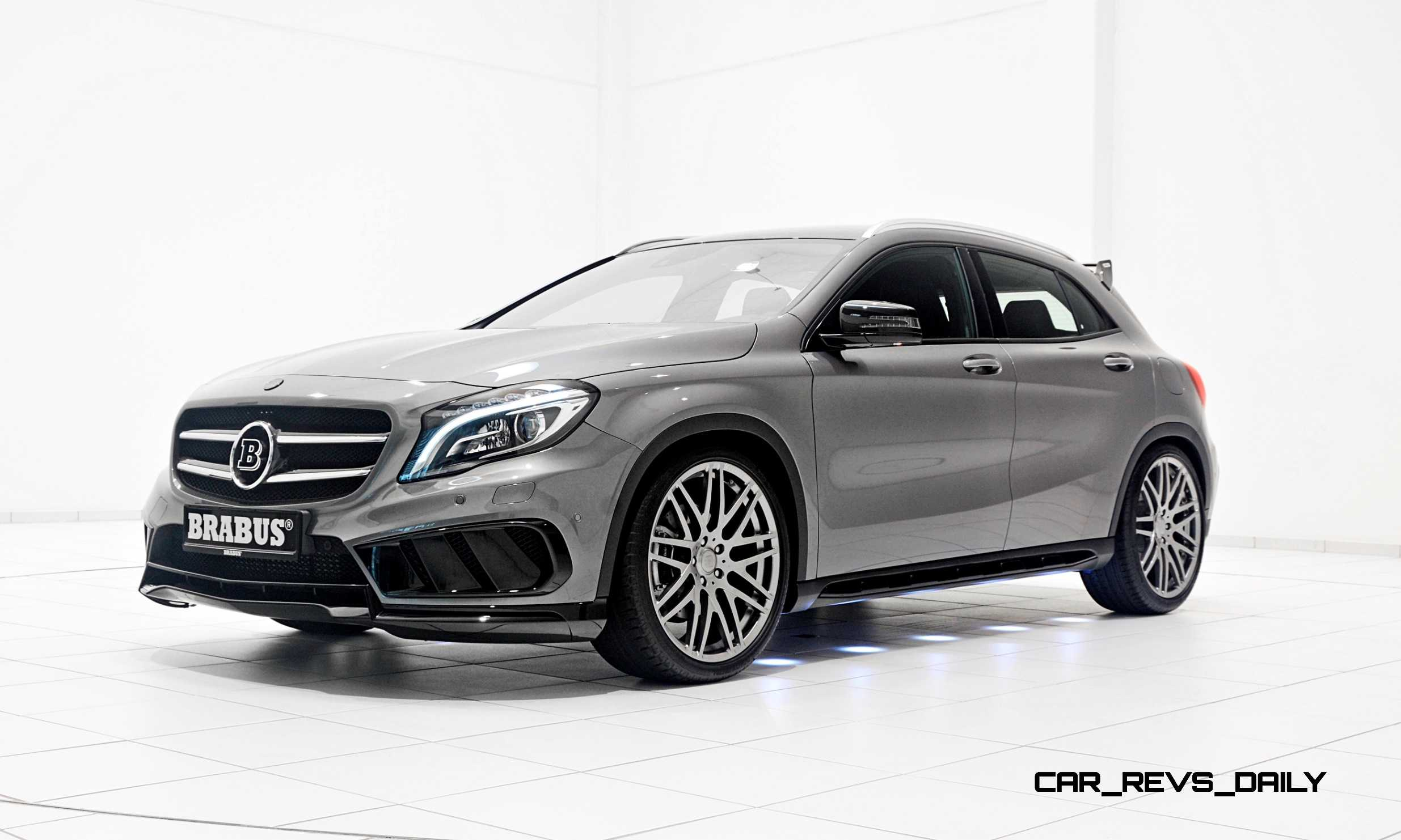 400hp 2015 brabus mercedes benz gla hunkers low on for Mercedes benz gla 2015 price
