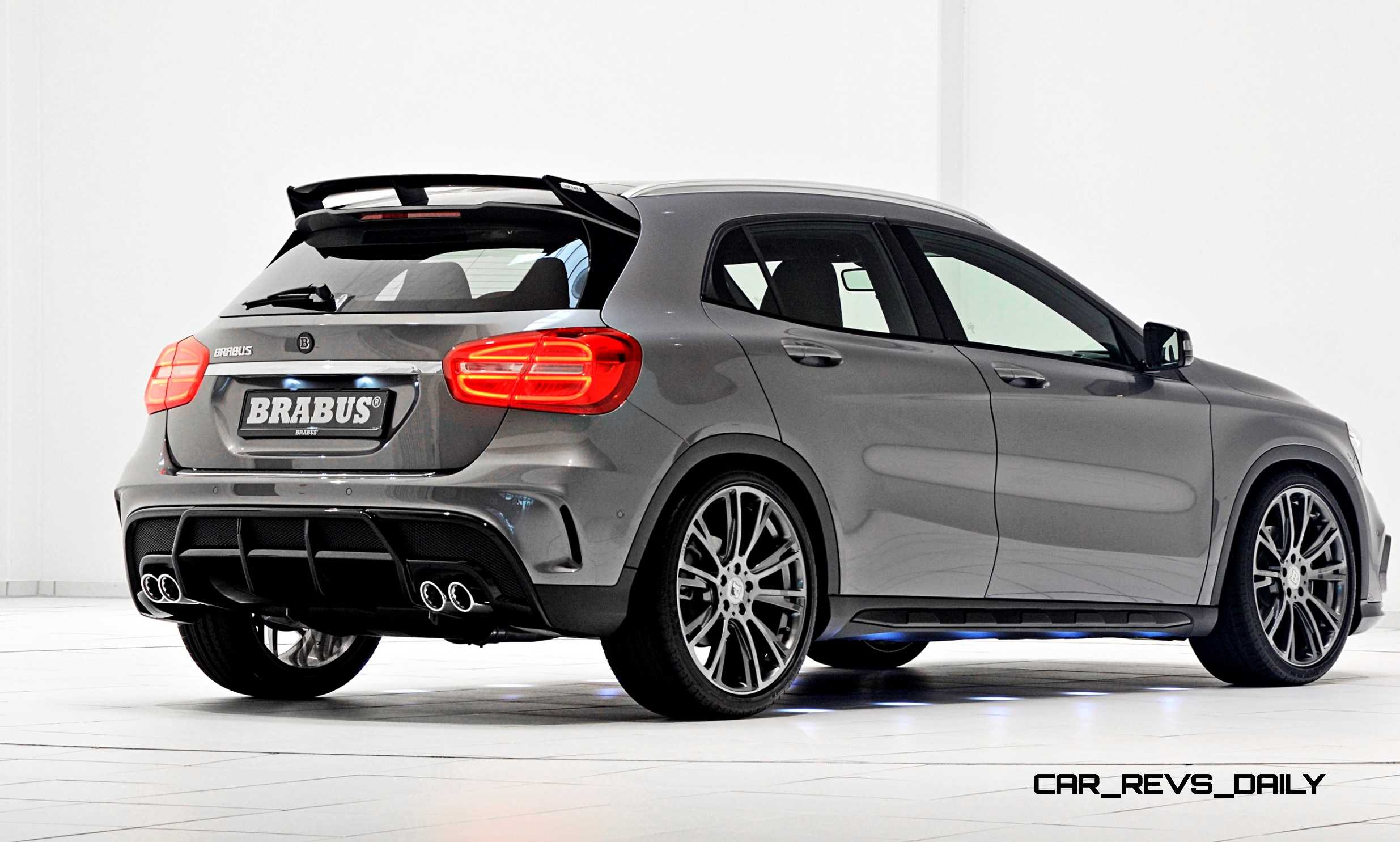 400hp 2015 brabus mercedes benz gla hunkers low on for Mercedes benz 2015 gla