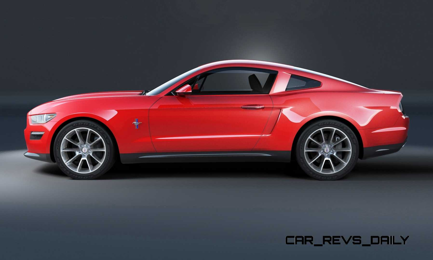 Concept To Reality 2015 Ford Mustang Sketches That Led To