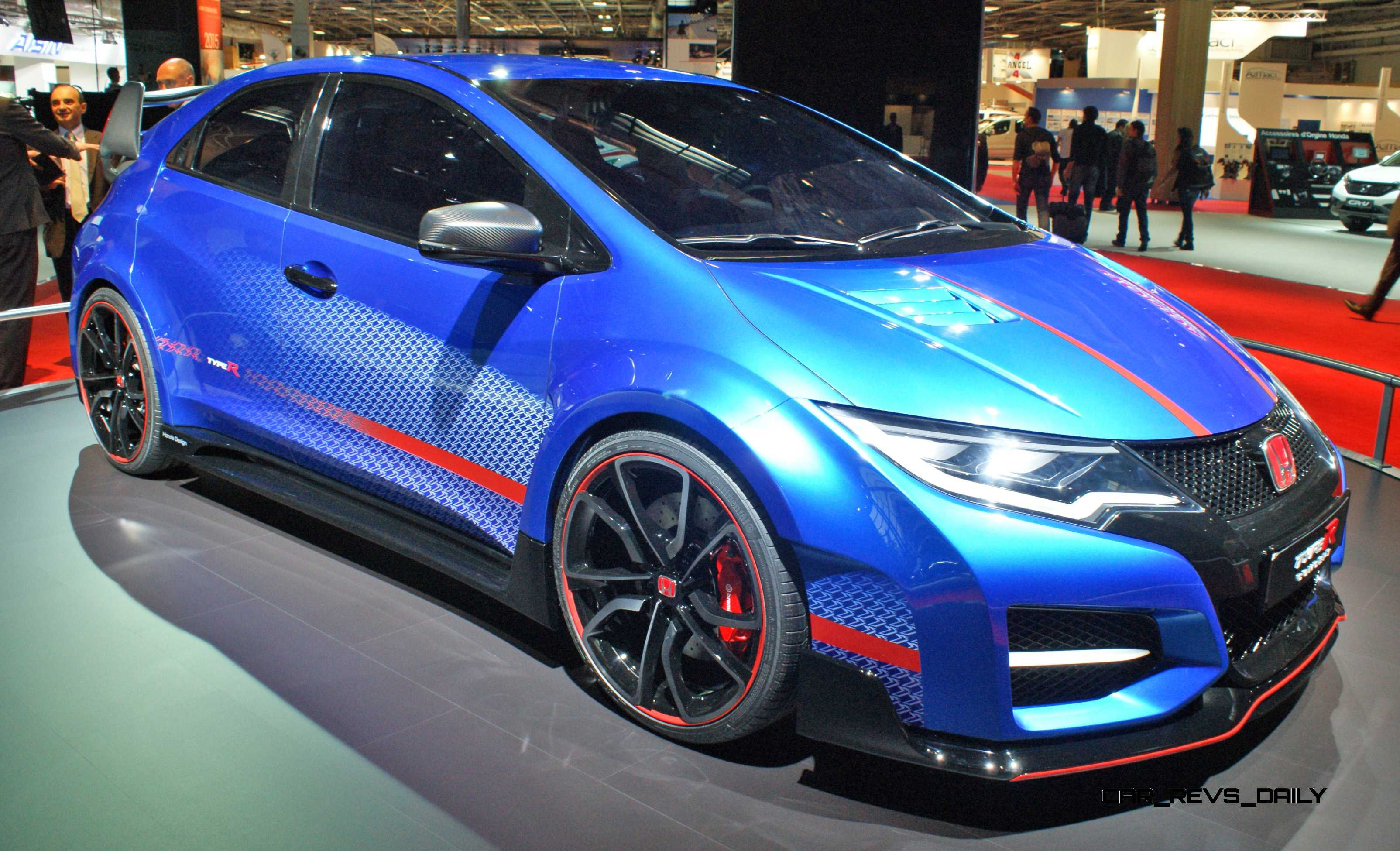 2015 honda civic type r concept two makes paris debut. Black Bedroom Furniture Sets. Home Design Ideas