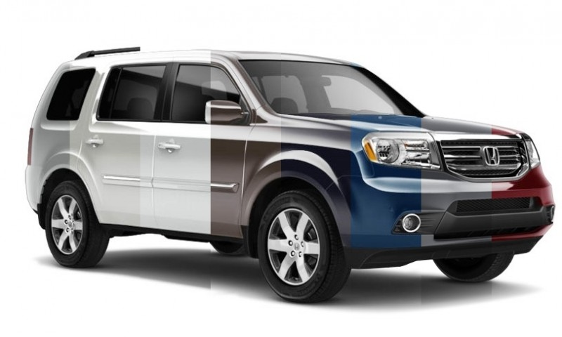 2015 Honda Pilot - Colors Guide in 8 Animated Turntables