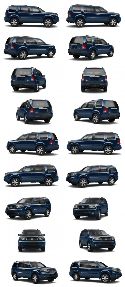 2015 Honda Pilot Colors 53-tile blue