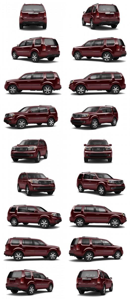 2015 Honda Pilot Colors 77-tile dark cherry red