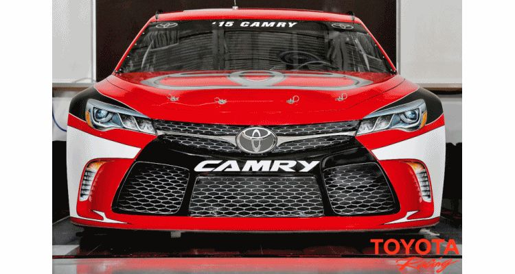 2015 Toyota Camry NASCAR 2 animted overlay with production camry gif