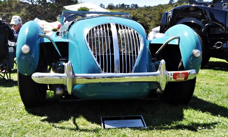 Quail Classics - 1950 Healey Silverstone Roadster Is Race-Optimized Aerolithe 10