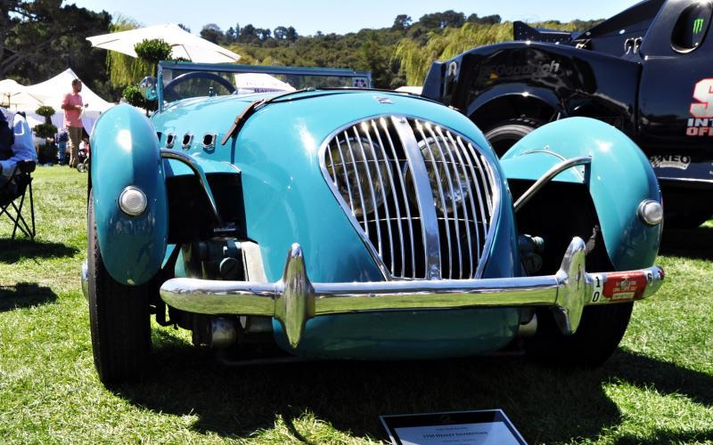 Quail Classics - 1950 Healey Silverstone Roadster Is Race-Optimized Aerolithe 12