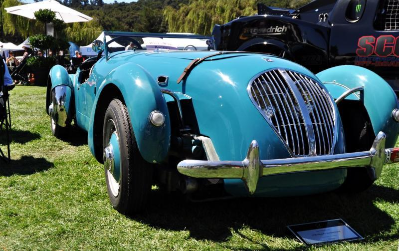 Quail Classics - 1950 Healey Silverstone Roadster Is Race-Optimized Aerolithe 13