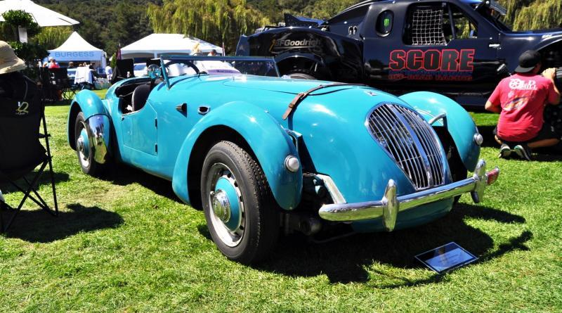 Quail Classics - 1950 Healey Silverstone Roadster Is Race-Optimized Aerolithe 14