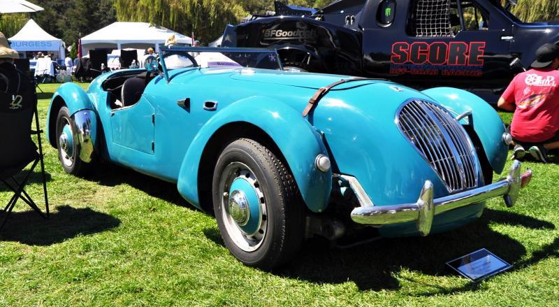 Quail Classics - 1950 Healey Silverstone Roadster Is Race-Optimized Aerolithe 15