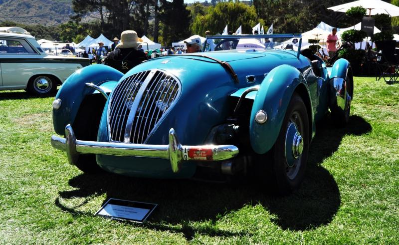 Quail Classics - 1950 Healey Silverstone Roadster Is Race-Optimized Aerolithe 3