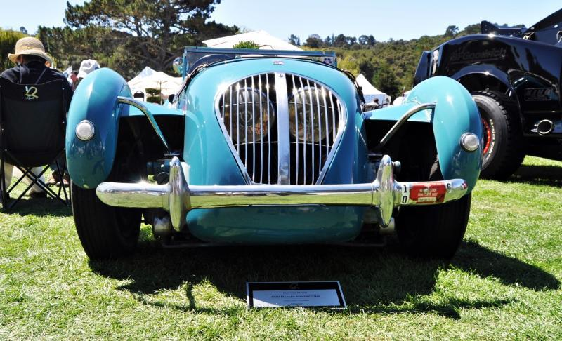 Quail Classics - 1950 Healey Silverstone Roadster Is Race-Optimized Aerolithe 9