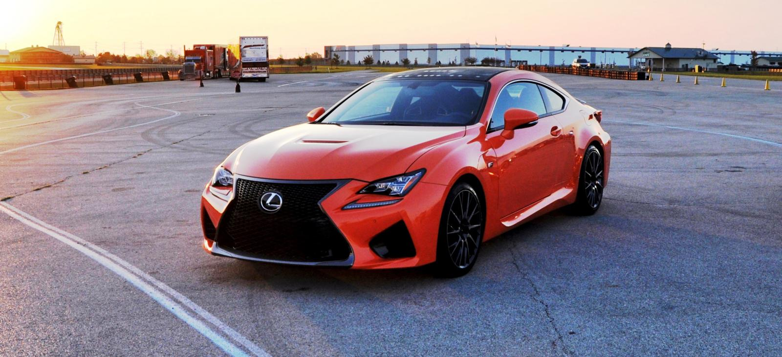 track drive review 2015 lexus rcf is roaring delight around autobahn country club 2. Black Bedroom Furniture Sets. Home Design Ideas