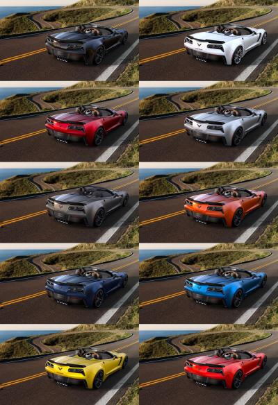 2015 CHevrolet Corvette Z06 Convertible -  Visualizer of All COLORS and WHEELS 42-tile