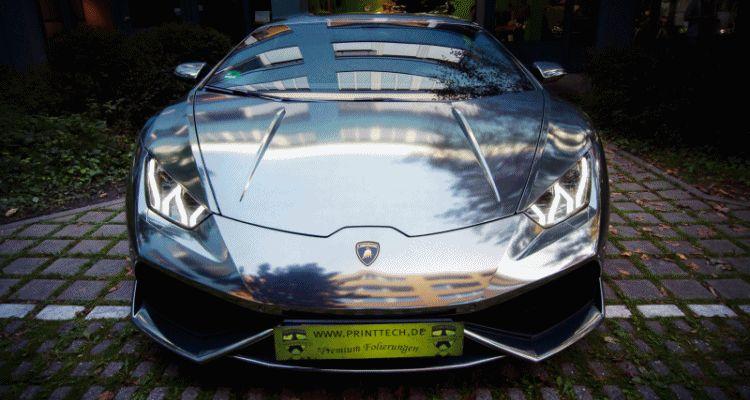 2015 Lamborghini Huracan Black-Chrome Wrap gif