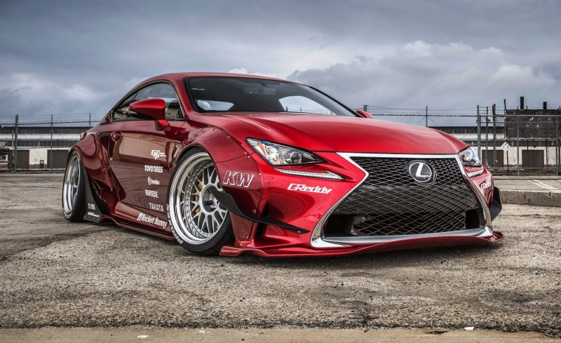 best of sema 2015 lexus rc350 f sport rocketbunny widebody car revs. Black Bedroom Furniture Sets. Home Design Ideas