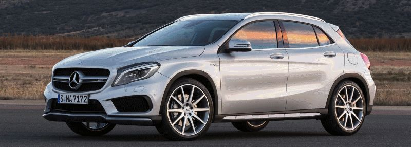 2015 Mercedes-Benz GLA45 AMG Animated GIF