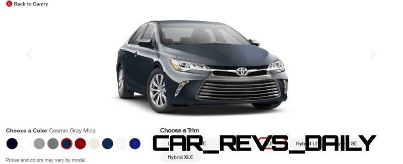 2015 Toyota Camry XLE Colors 19