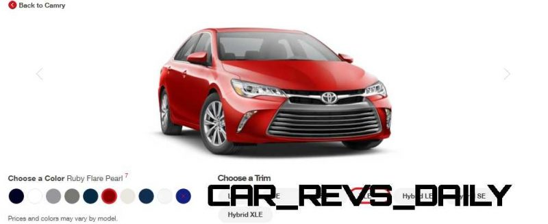 2015 Toyota Camry XLE Colors 24