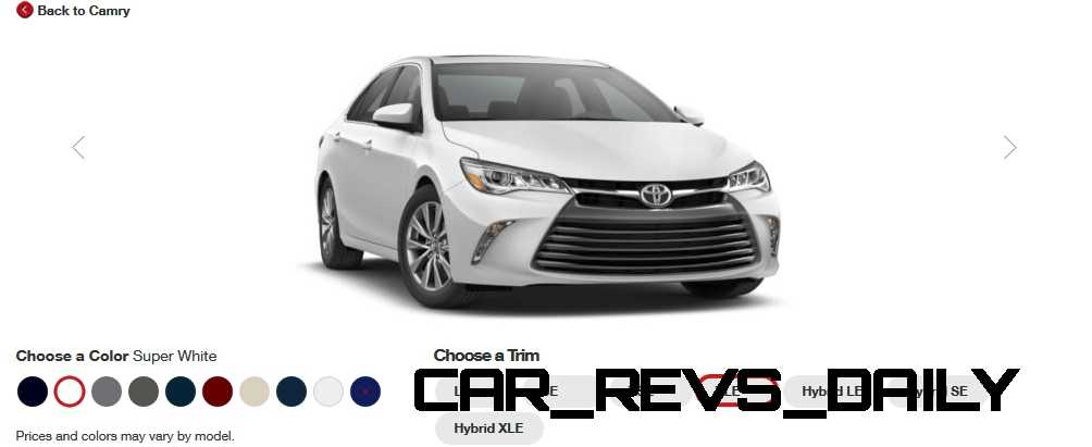2015 toyota camry colors and trims visual buyers guide. Black Bedroom Furniture Sets. Home Design Ideas