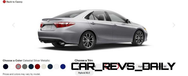 2015 Toyota Camry XSE Colors 11
