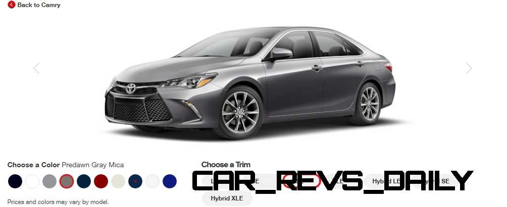 See 2014 Toyota Camry Color Options Carsdirect   New Car Specs, Prices ...