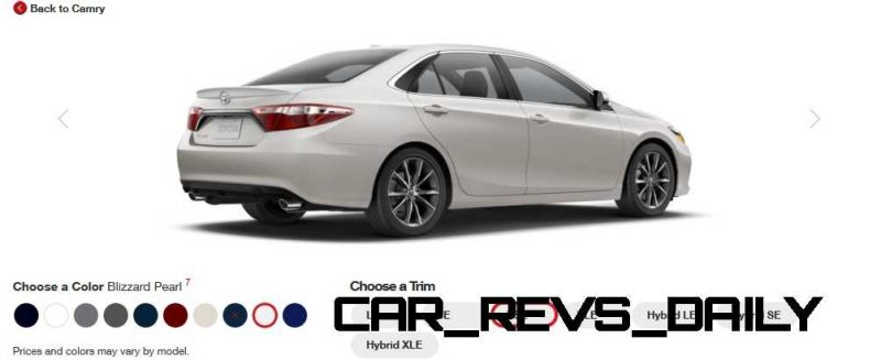 2015 Toyota Camry XSE Colors 31