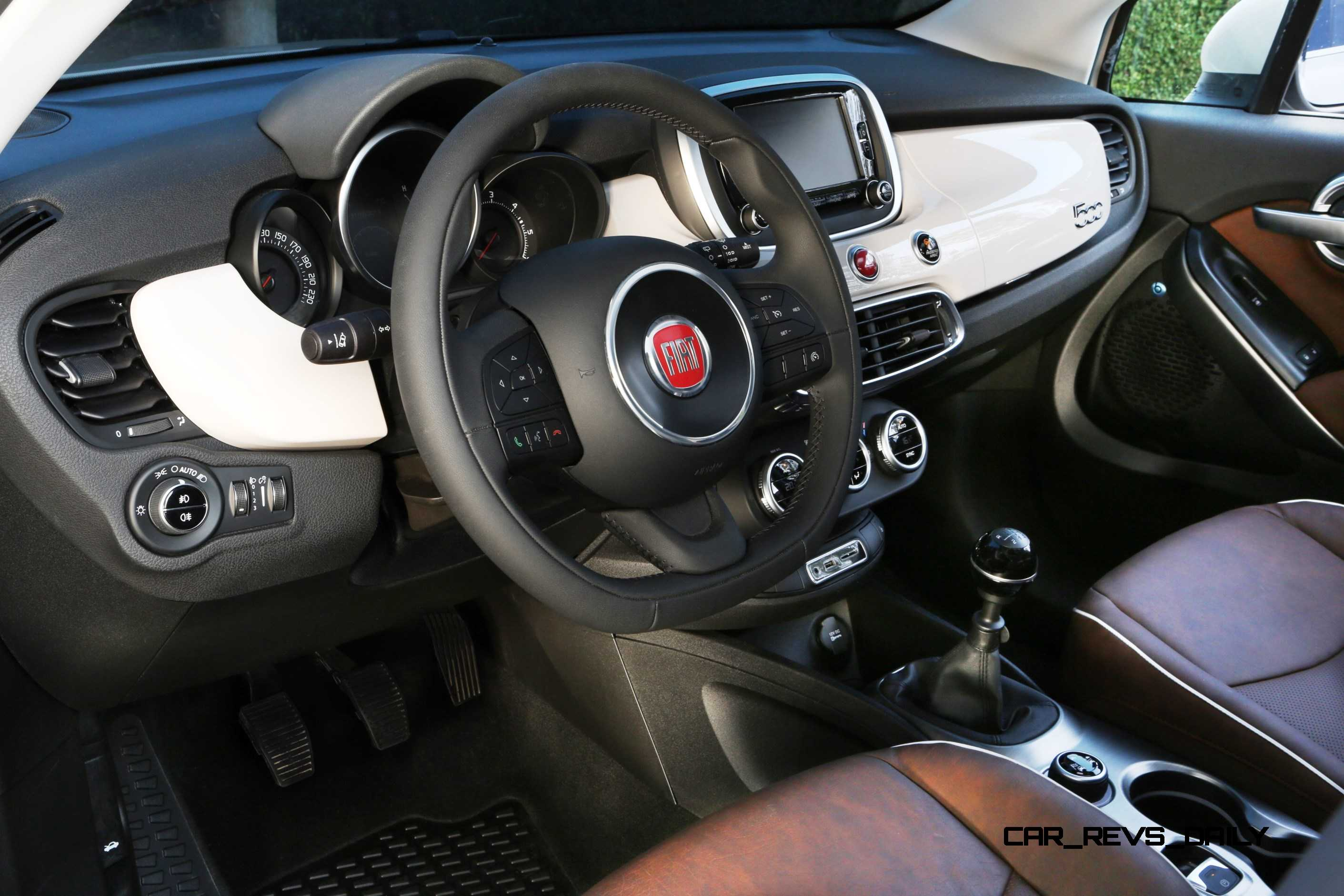 2016 fiat 500x lounge is right sized city softroader with for 500x interior