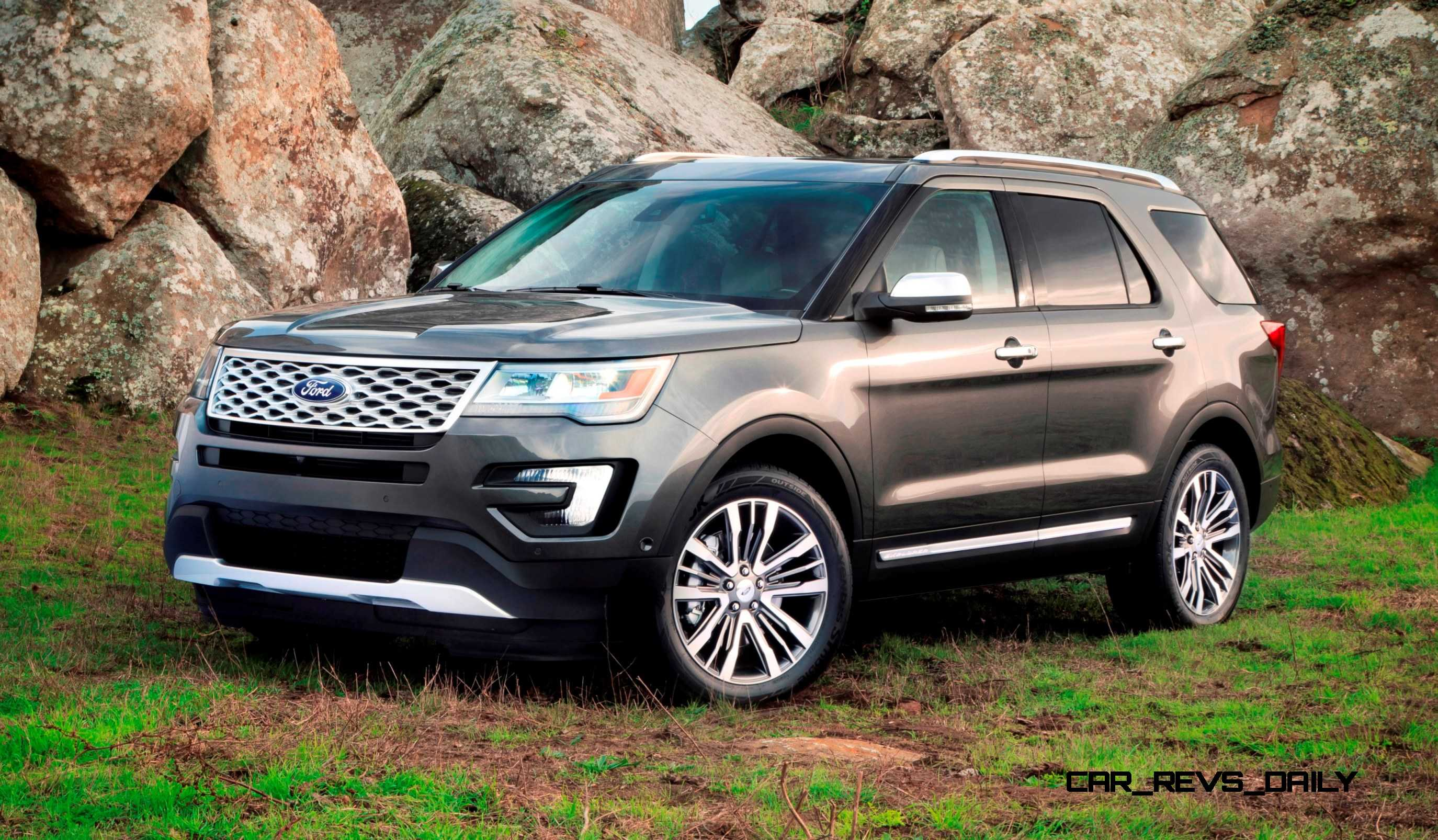 2016 ford explorer revealed with new engines fresh styling and platinum range topper. Black Bedroom Furniture Sets. Home Design Ideas