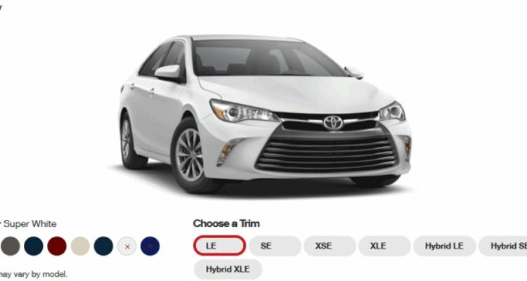 Camry trims gif