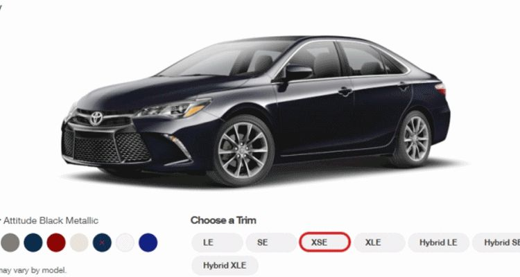 Camry xse color gif32