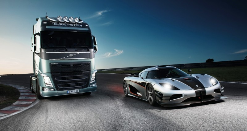 Fifth Gear's Tiff Needell Presents - Volvo FH Truck vs Koenigsegg One1 22