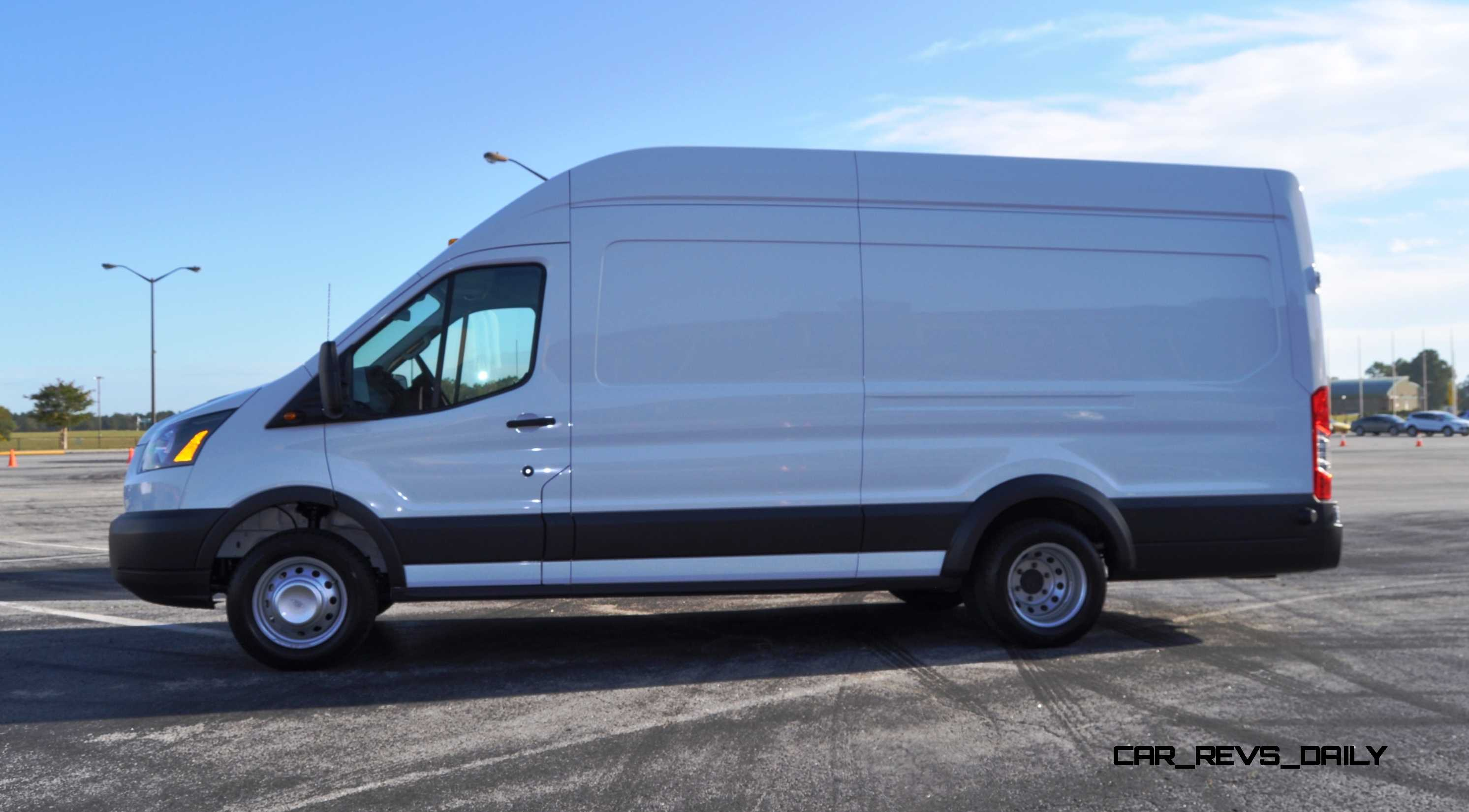 Hd track drive review 2015 ford transit powerstroke diesel high roof long box cargo van 10
