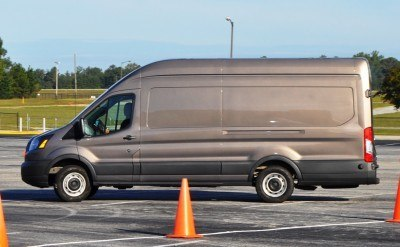 HD Track Drive Review - 2015 Ford Transit PowerStroke Diesel High-Roof, Long-Box Cargo Van 12