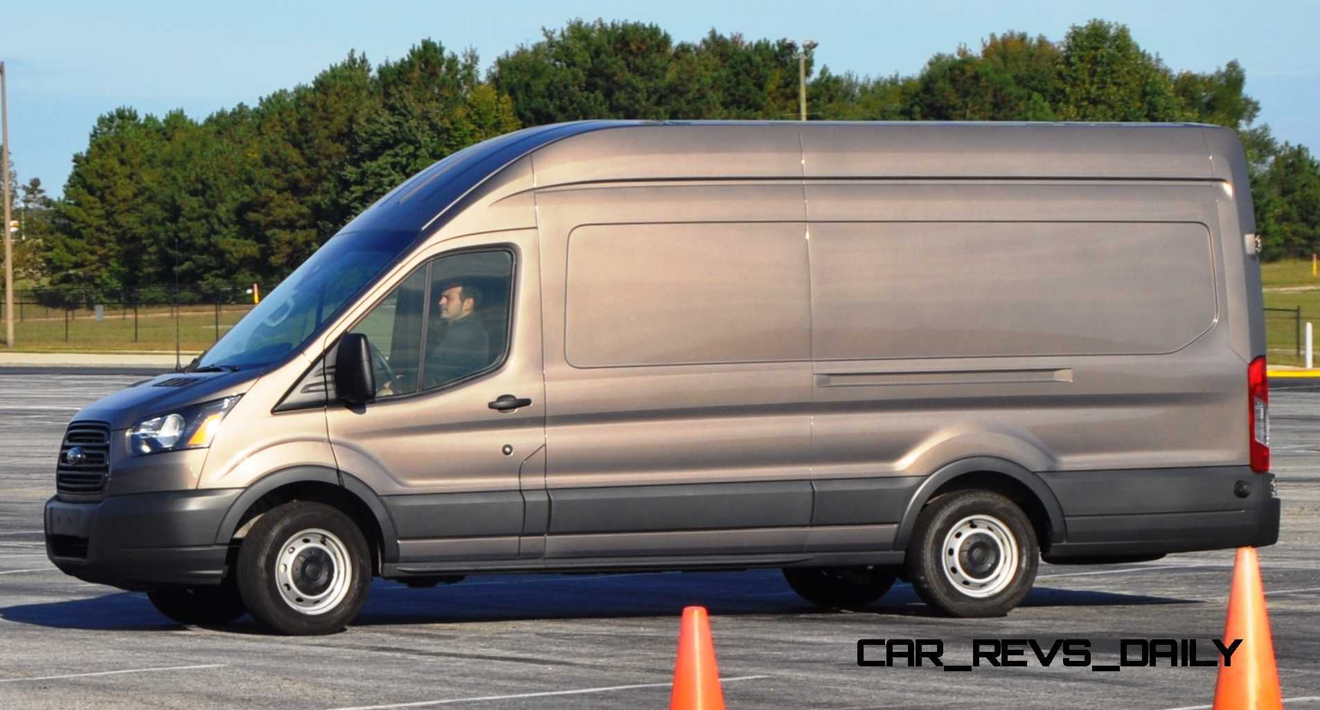 hd track drive review 2015 ford transit powerstroke diesel high roof long box cargo van 16. Black Bedroom Furniture Sets. Home Design Ideas
