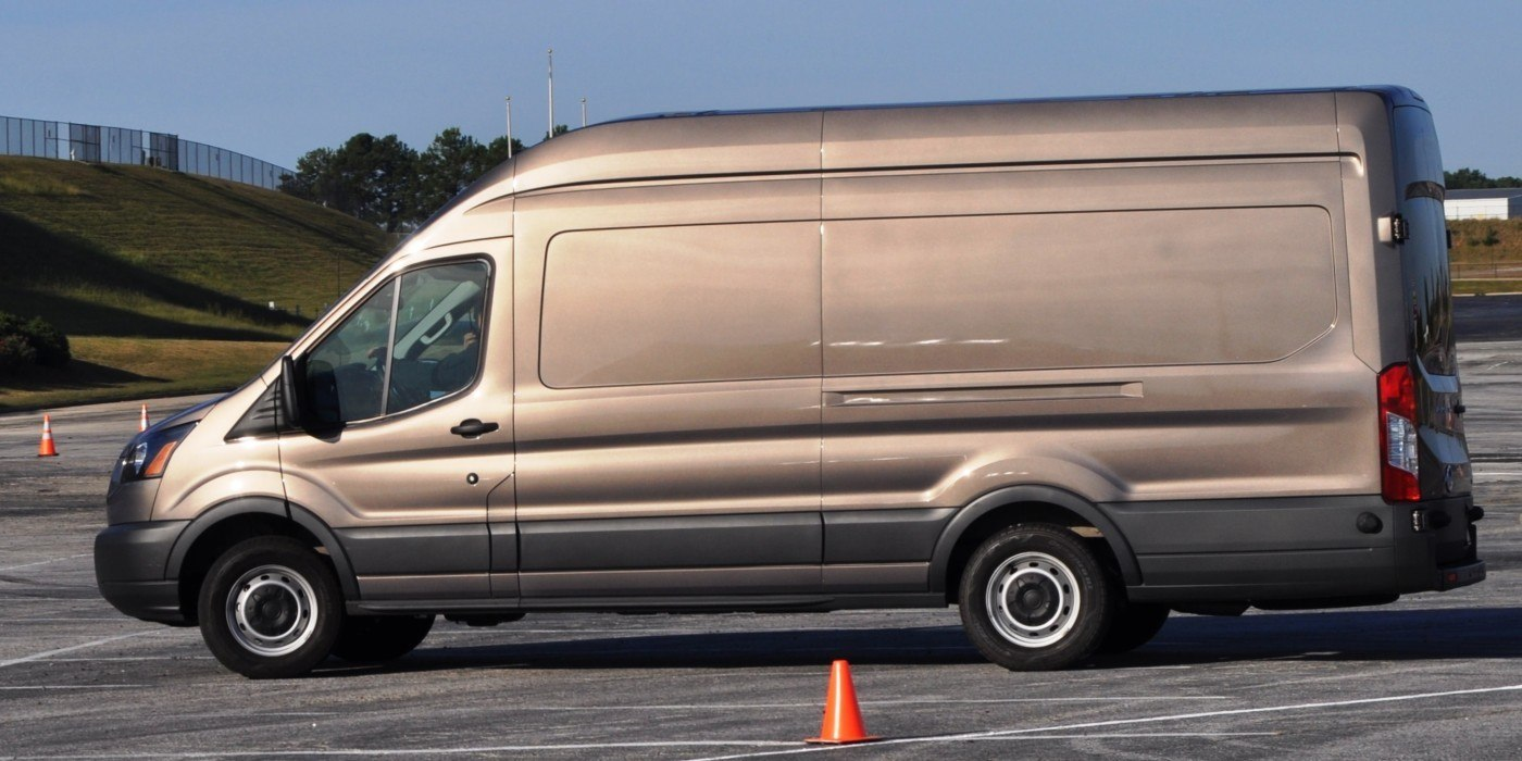 hd track drive review 2015 ford transit powerstroke diesel high roof long box cargo van 17. Black Bedroom Furniture Sets. Home Design Ideas