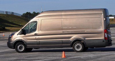 HD Track Drive Review - 2015 Ford Transit PowerStroke Diesel High-Roof, Long-Box Cargo Van 17