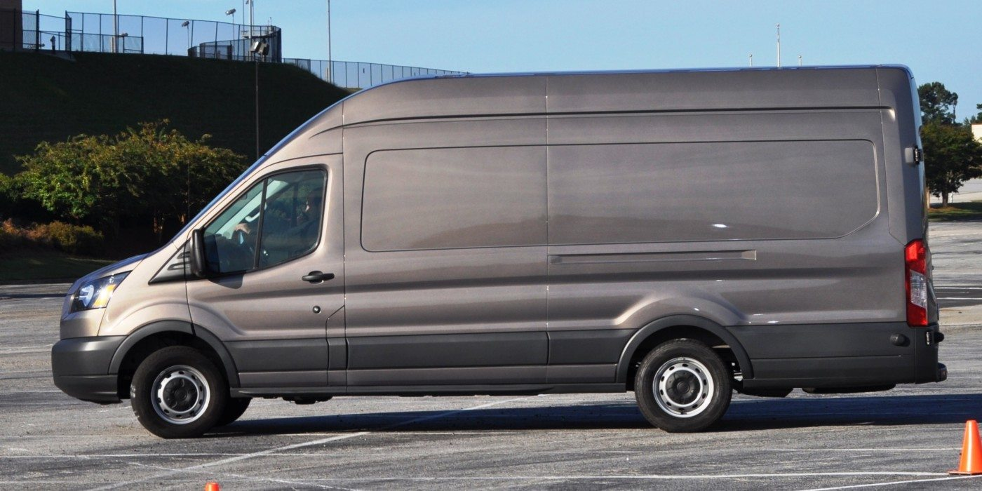 hd track drive review 2015 ford transit powerstroke diesel high roof long box cargo van 18. Black Bedroom Furniture Sets. Home Design Ideas