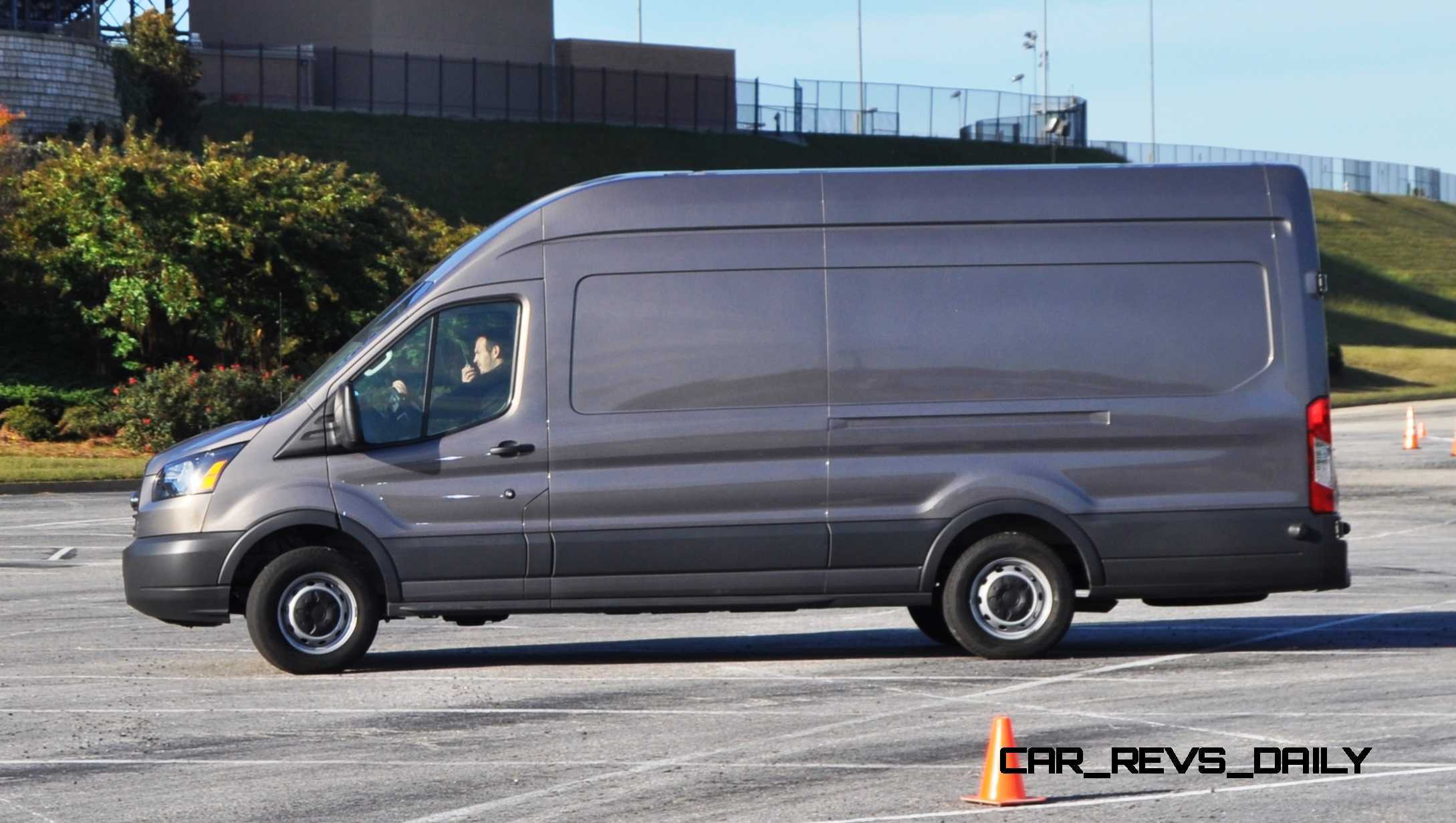 hd track drive review 2015 ford transit powerstroke diesel high roof long box cargo van 19. Black Bedroom Furniture Sets. Home Design Ideas