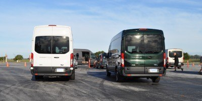 HD Track Drive Review - 2015 Ford Transit PowerStroke Diesel High-Roof, Long-Box Cargo Van 2