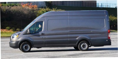 HD Track Drive Review - 2015 Ford Transit PowerStroke Diesel High-Roof, Long-Box Cargo Van 20