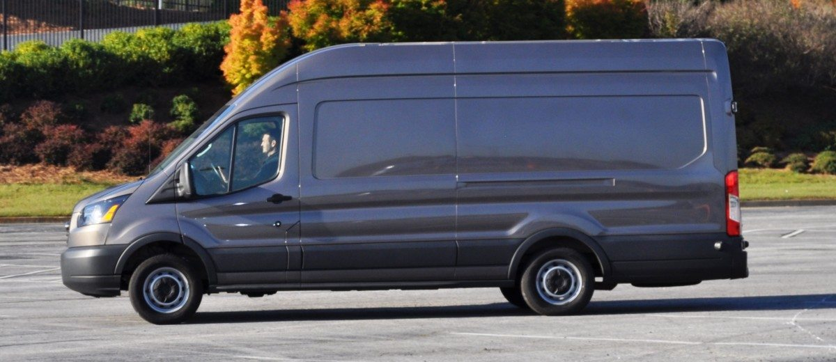 hd track drive review 2015 ford transit powerstroke diesel high roof long box cargo van 21. Black Bedroom Furniture Sets. Home Design Ideas