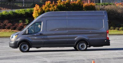 HD Track Drive Review - 2015 Ford Transit PowerStroke Diesel High-Roof, Long-Box Cargo Van 21
