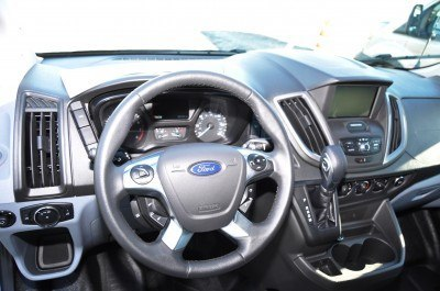 HD Track Drive Review - 2015 Ford Transit PowerStroke Diesel High-Roof, Long-Box Cargo Van 23