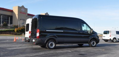 HD Track Drive Review - 2015 Ford Transit PowerStroke Diesel High-Roof, Long-Box Cargo Van 4