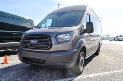 HD Track Drive Review - 2015 Ford Transit PowerStroke Diesel High-Roof, Long-Box Cargo Van 42