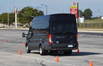 HD Track Drive Review - 2015 Ford Transit PowerStroke Diesel High-Roof, Long-Box Cargo Van 50