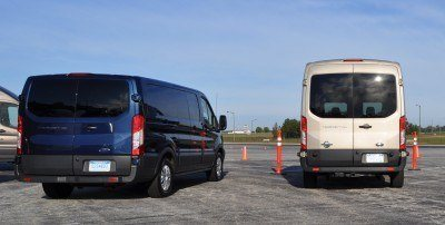HD Track Drive Review - 2015 Ford Transit PowerStroke Diesel High-Roof, Long-Box Cargo Van 6