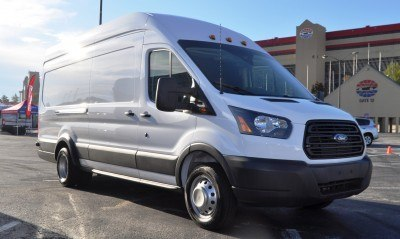 HD Track Drive Review - 2015 Ford Transit PowerStroke Diesel High-Roof, Long-Box Cargo Van 8