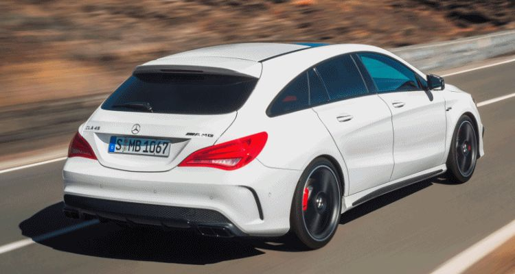 cla45 amg shooting brake gif